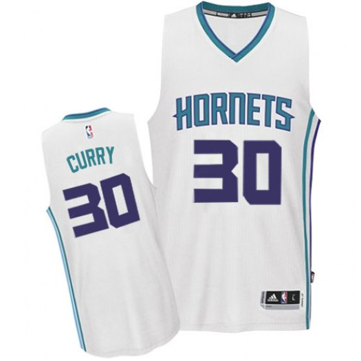 Men's Dell Curry Charlotte Hornets Adidas Swingman White Home Jersey